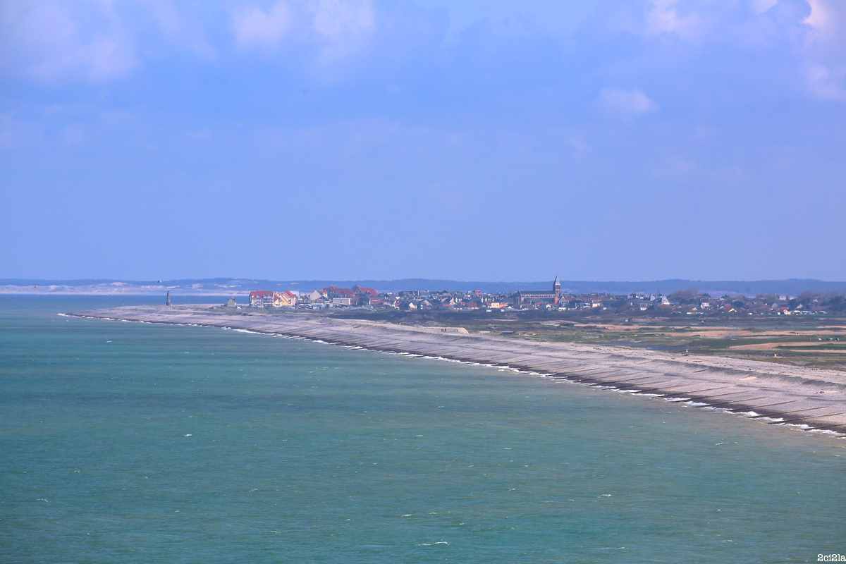 cayeux-sur-Mer, vue depuis Ault. Avril 2016