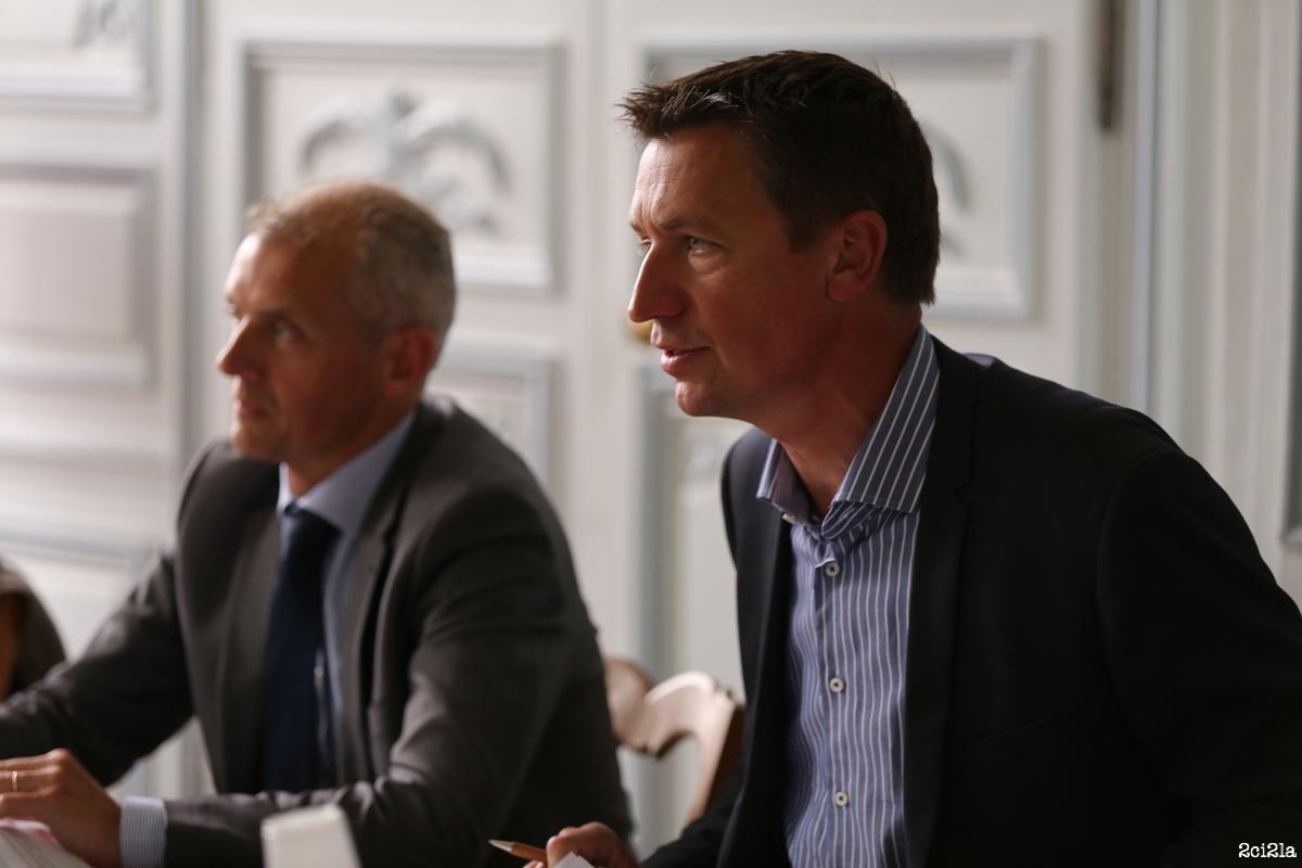 Emmanuel Maquet (à droite) et Bruno Dalle, président du Syndicat mixte baie de Somme Grand littoral picard