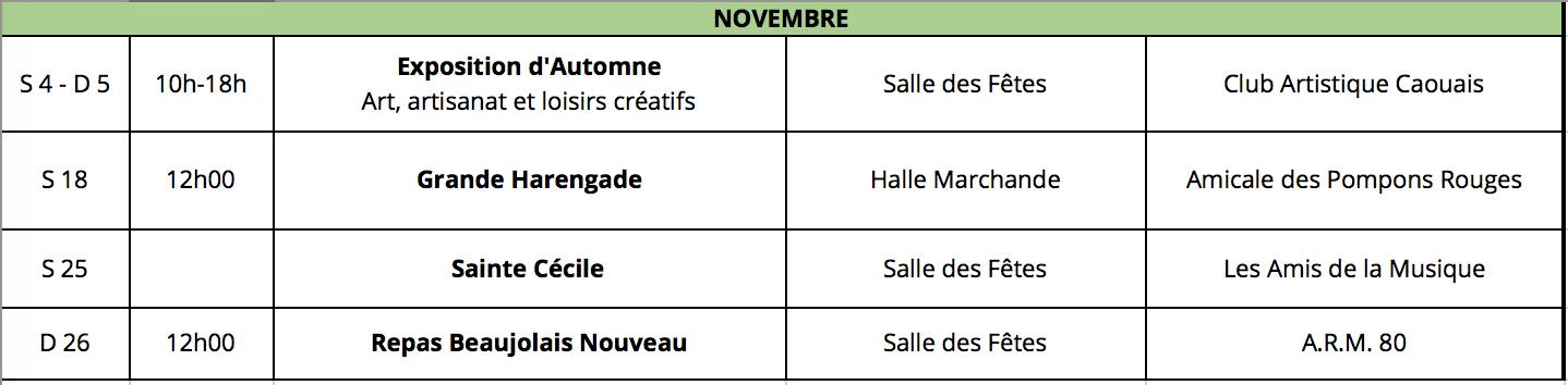Cayeux-sur-mer animations novembre 2017