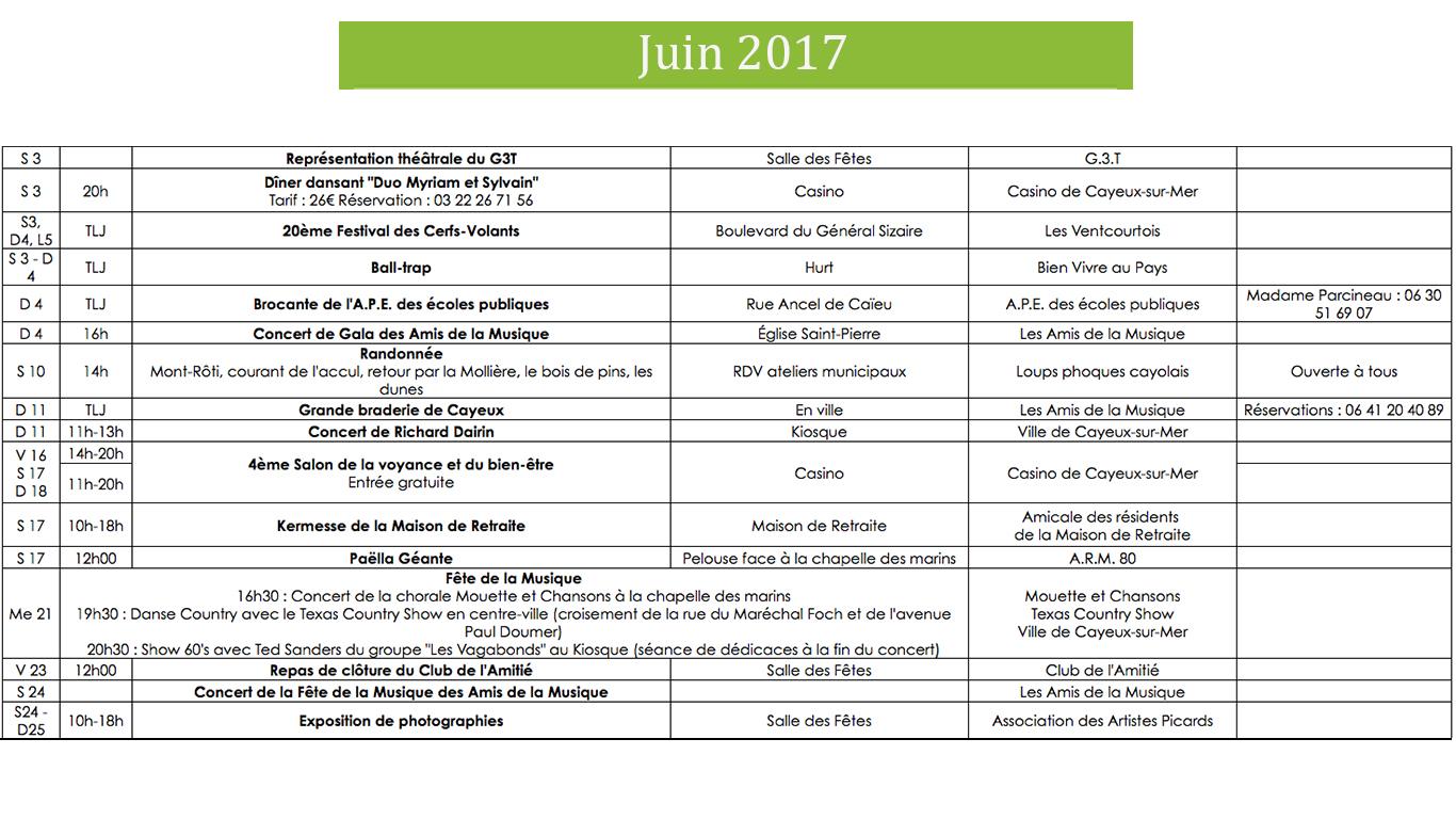 Animation juin 2017 Cayeux-sur-Mer