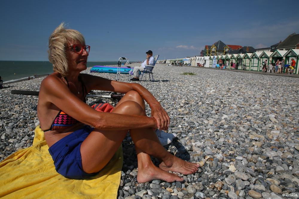 Claude Gauthier sur la plage