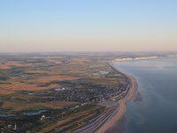 Cayeux-sur-Mer et les bas-champs, vue aérienne