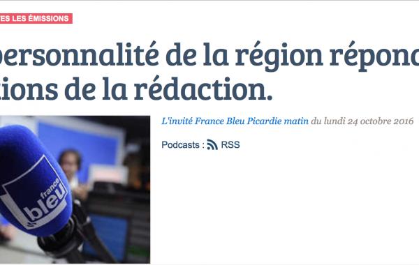 Jean-Paul Lecomte, Invité de France Bleu Picardie lundi 24 octobre