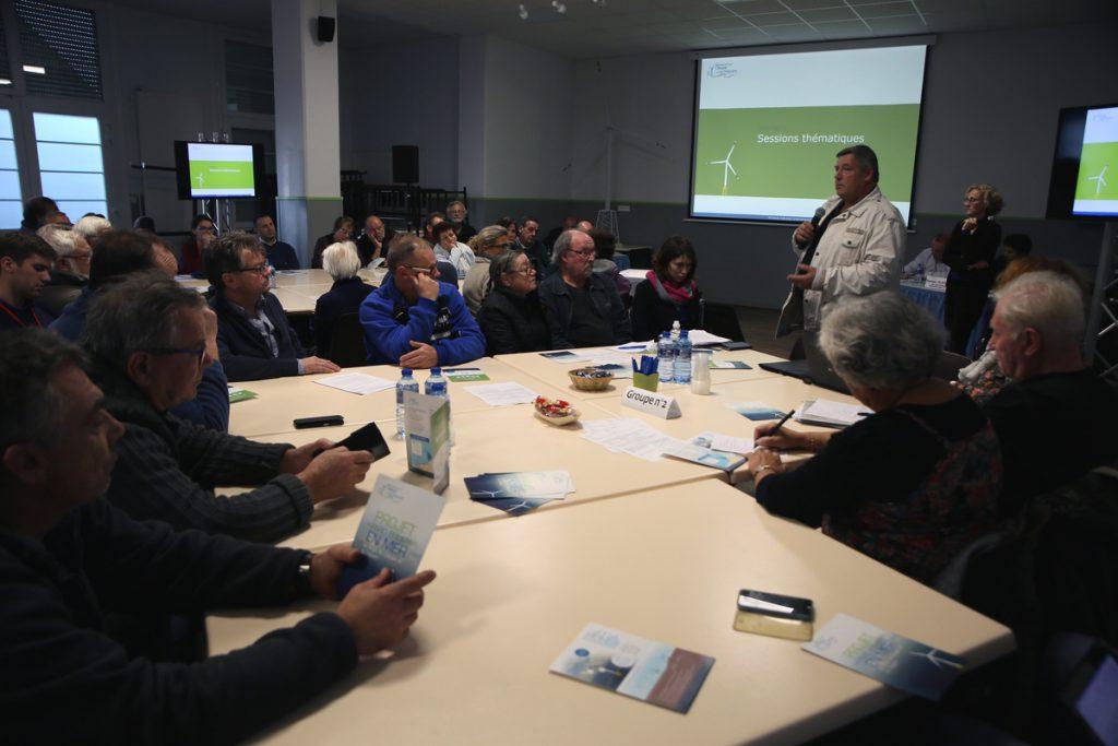 Réunion publique d'information et de concertation. Atelier Thématique Etat initial de l'environnement. Cayeux-sur-Mer le 18 octobre 2016