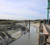 Plaisance au Hourdel : l'entrée du port désensablée