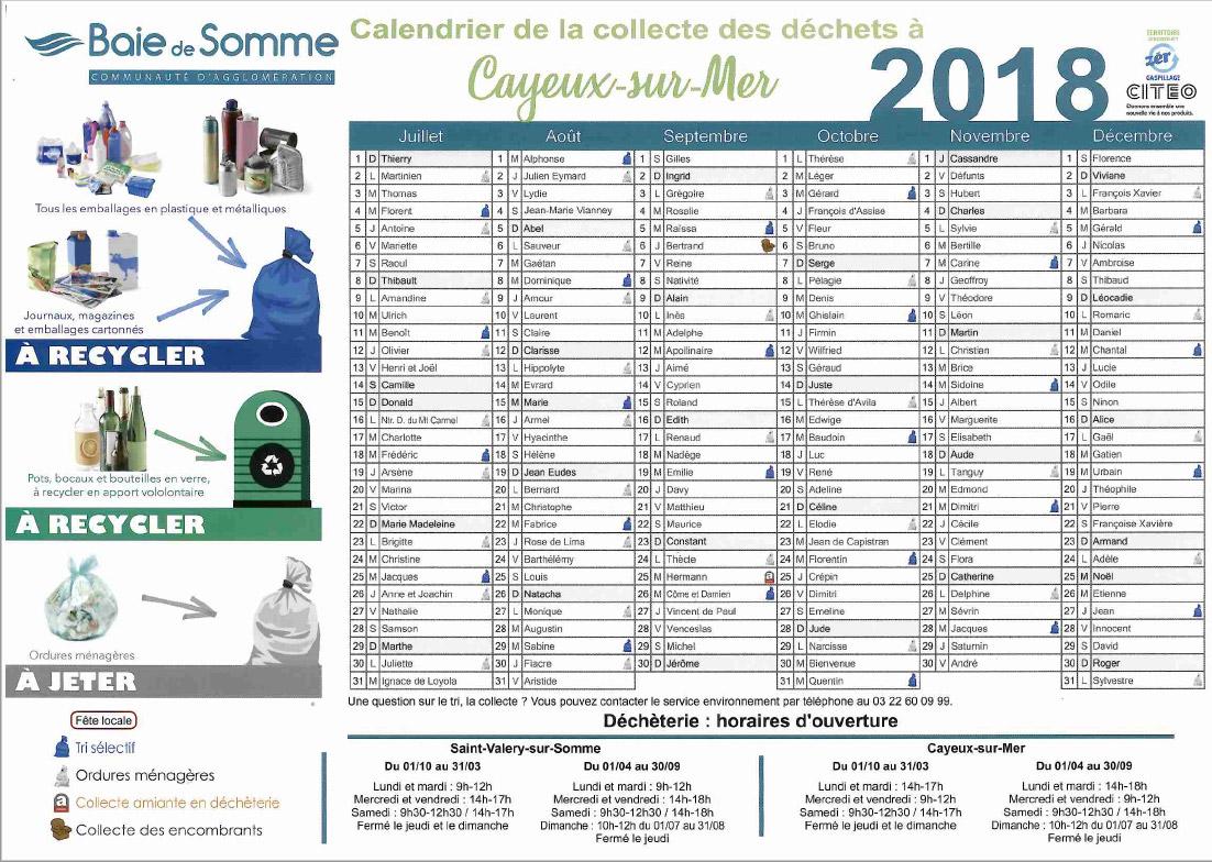 calendrier-de-collecte-des-déchets-Cayeux-sur-mer-Premier-semestre-2018