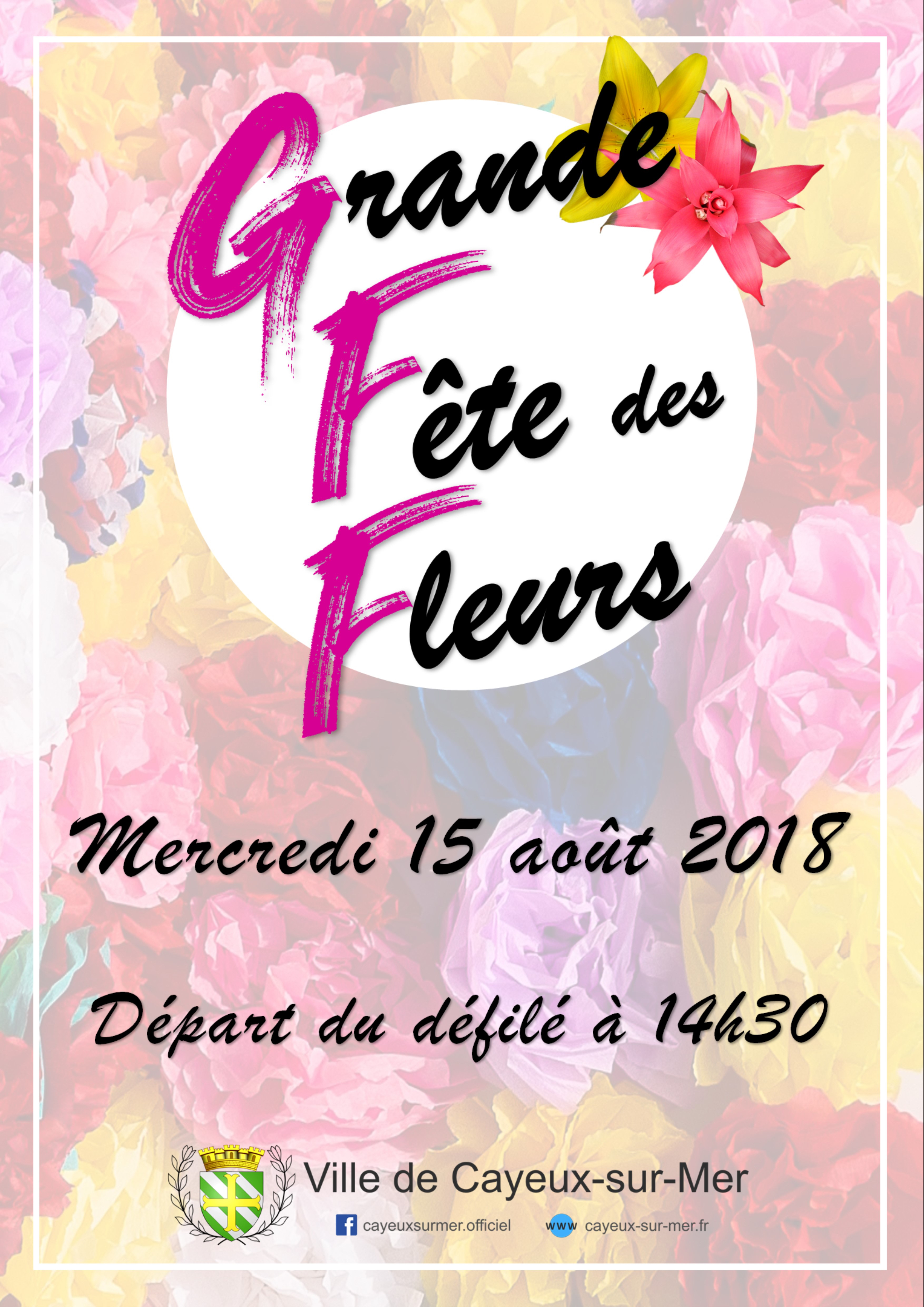 Affiche fête des fleurs 2018