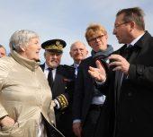 Jacqueline Gourault, Ministre, en visite de terrain à Cayeux